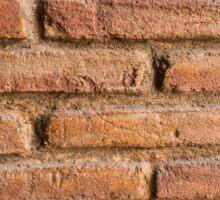 Vintage red brick wall texture background Sticker