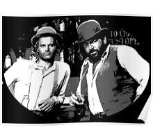 Terence Hill & Bud Spencer - Italian actors Poster
