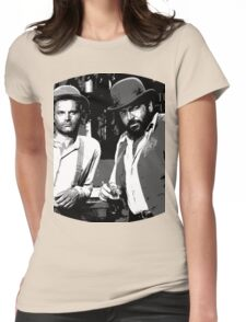 Terence Hill & Bud Spencer - Italian actors Womens Fitted T-Shirt