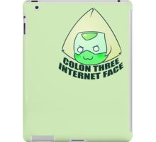 COLON THREE    INTERNET FACE iPad Case/Skin