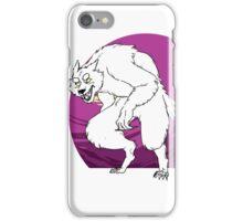 purple werewolf iPhone Case/Skin