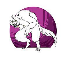 purple werewolf Photographic Print