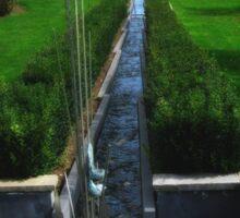 Water Feature - National Rose Garden - Tasmania Sticker