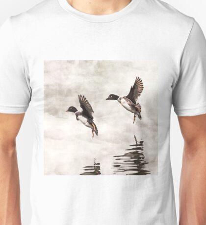 Ducks Landing on the Lake Unisex T-Shirt