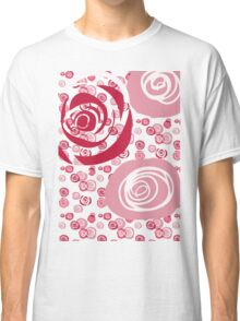 Roses Red and Pink Contemporary Classic T-Shirt