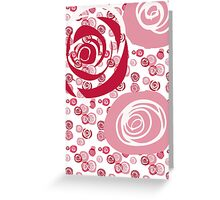 Roses Red and Pink Contemporary Greeting Card
