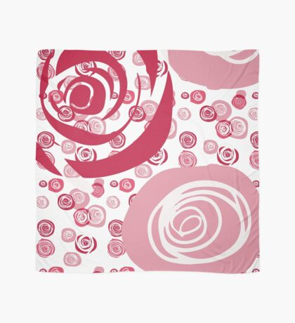 Roses Red and Pink Contemporary Scarf