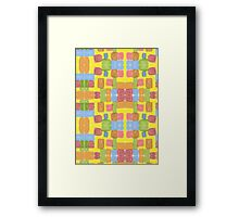 Watercolor Playground #4 Yellow Pink Blue Green Framed Print