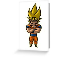 The Golden Dragon Warrior Greeting Card