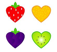 Fresh fruit for Valentine's day Photographic Print