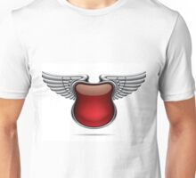 Silver banner with wings Unisex T-Shirt