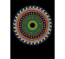 Trippy Mandala Photographic Print