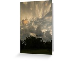 Sky Painting - Mammatus Clouds After A Storm Greeting Card
