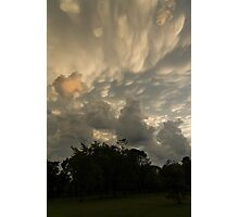 Sky Painting - Mammatus Clouds After A Storm Photographic Print
