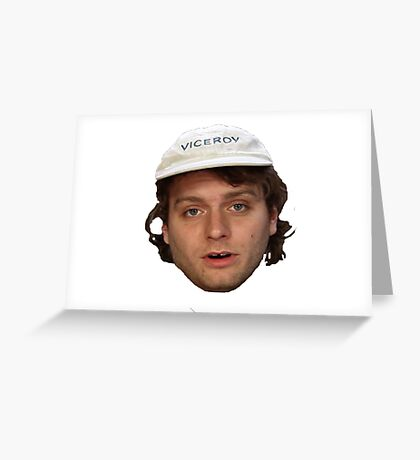 mac demarcos awful dumb face Greeting Card