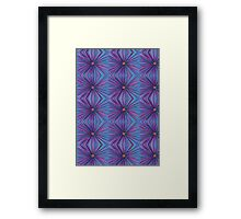 Abstract Hand Drawn Flower Purple Blue Repeat Pattern Framed Print