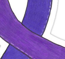 Medium Purple Awareness Ribbon Sticker