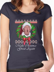 Trump Christmas Santa claus Women's Fitted Scoop T-Shirt
