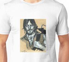 Charcoal Daryl Drawing by Pandora Fox Art  Unisex T-Shirt