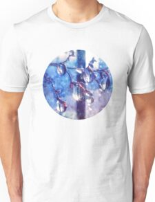 Crystal water drops on a branch Unisex T-Shirt
