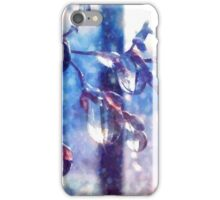 Crystal water drops on a branch iPhone Case/Skin