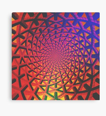 Holographic networks Canvas Print
