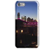 sunset over the bridge iPhone Case/Skin