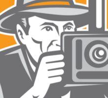 Photographer Vintage Camera Shield Retro Sticker