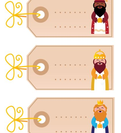 Three wise man blank cards for your present Sticker