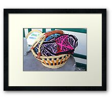 Basket of Knitted Things Framed Print