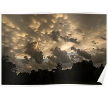Furious Sky - Mammatus Clouds After a Storm Poster