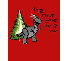 Funny Singing T-rex Dinosaur Photographic Print