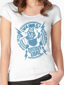 LUCHADOR#8 Women's Fitted Scoop T-Shirt