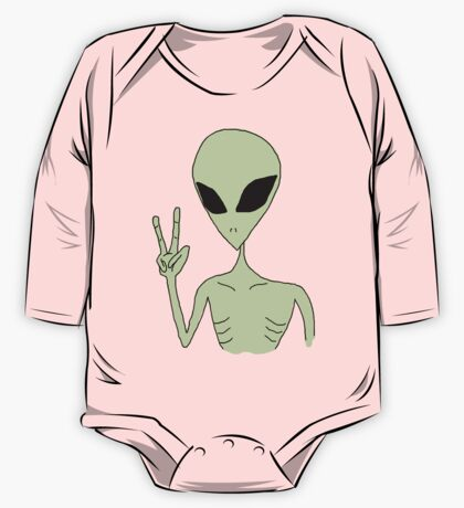 peace alien One Piece - Long Sleeve