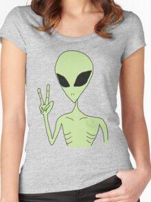 peace alien Women's Fitted Scoop T-Shirt