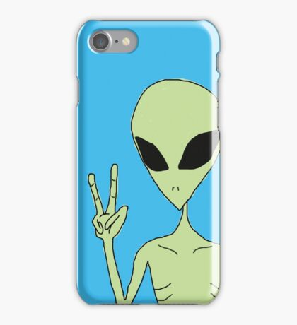 peace alien iPhone Case/Skin