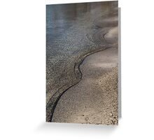 Lakeshore Tranquility - the Slowly Curling Wave Greeting Card