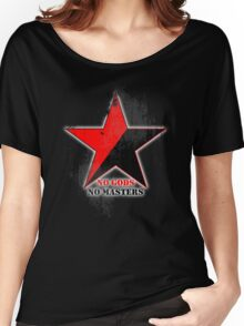 No Gods No Masters - Anarchist Star - grunge Women's Relaxed Fit T-Shirt