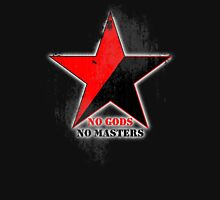 No Gods No Masters - Anarchist Star - grunge T-Shirt