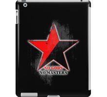 No Gods No Masters - Anarchist Star - grunge iPad Case/Skin
