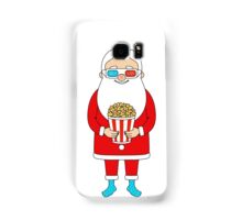 Santa Claus with popcorn and 3D glasses Samsung Galaxy Case/Skin