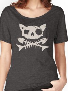 Cat Pirate Jolly Roger Women's Relaxed Fit T-Shirt