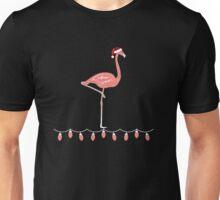 Pink Flamingo Crazy Christmas Unisex T-Shirt