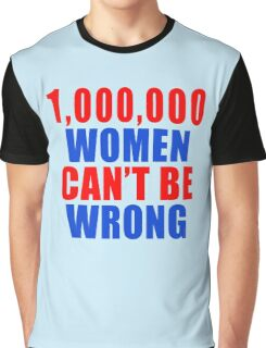 1,000,000 Women Can't Be Wrong Graphic T-Shirt