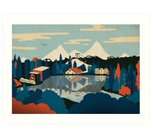 Mirror Pond Art Print
