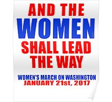 And the WOMEN Shall Lead the Way Poster