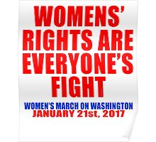 Womens' Rights are Everyone's Fight Unisex Poster