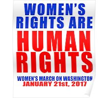 Womens' Rights are Human Rights Unisex Poster