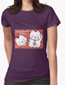 The Forgetful Lucky-Cat Womens Fitted T-Shirt