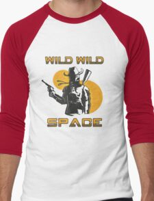 Wild Wild Space Bounty Hunter Men's Baseball ¾ T-Shirt